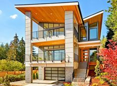 Plan 23791JD: Stunning Modern House Plan With Great Outdoor Spaces