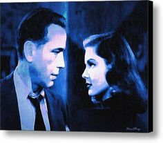 Bogart And Bacall - The Big Sleep Canvas Print / Canvas Art By Alicia Hollinger #AliciaHollingerArt
