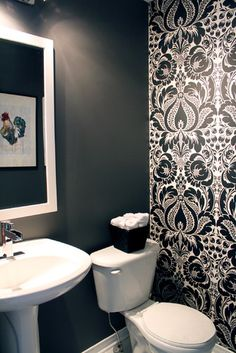 I like the solid charcoal grey for a bathroom color