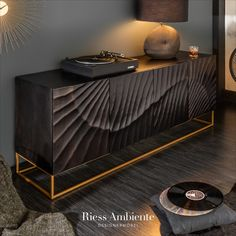 Sideboard Modern, Black Sideboard, Wood Sideboard, Interior Decorating, Interior Design, Interior Architecture, Wood Interiors, Solid Wood Furniture, Home And Living