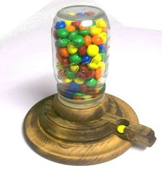 Wooden gumball machine...for those of you who have woodworkers in the family