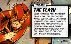 If I lived in the DC Comics universe I'd be The Flash! What about you? #ZimbioQuiz #DCComics