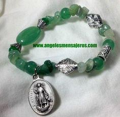 Raphael Archangel bracelet . Green bracelet - amuleto san Rafael-amuleto de la salud-pulsera angel Rafael-pulsera de san rafael