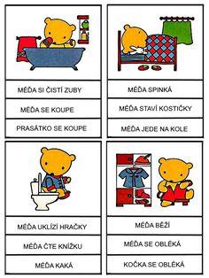 Pro Šíšu: Medvedi - cteni s porozumenim Aurora, Math Worksheets, Reading Comprehension, Montessori, Language, Education, Comics, Learning, School