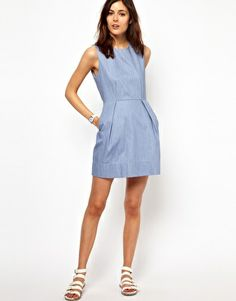 Ingrandisci BZR - Vestito in chambray