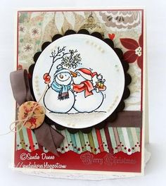 snowman handmade cards - Google Search