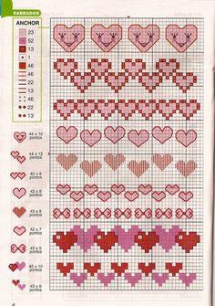 Santa Cross Stitch, Tiny Cross Stitch, Cross Stitch Heart, Cross Stitch Borders, Cross Stitch Designs, Cross Stitching, Cross Stitch Embroidery, Cross Stitch Alphabet Patterns, Knitting Charts