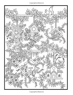 Hidden Garden: An Adult Coloring Book with Secret Forest Animals, Enchanted Flower Designs, and Fantasy Nature Patterns Jade Summer, Adult Coloring Books: Books Garden Coloring Pages, Summer Coloring Pages, Coloring Pages For Grown Ups, Coloring Book Pages, Coloring Sheets, Colorful Drawings, Colorful Pictures, Zentangle, Printable Crafts