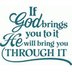 Silhouette Design Store - View Design #43842: 'if god' vinyl quote