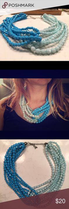 Anthropologie Blue necklace Super cute Anthropologie two blue necklace ready for someone to show me off! Anthropologie Jewelry Necklaces