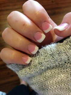 How to choose your fake nails? - My Nails French Tip Acrylic Nails, White Acrylic Nails, French Nails, French Acrylics, Short French Tip Nails, French Manicures, Manicure Y Pedicure, Shellac Nails, Diy Nails