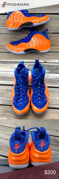 """the best attitude fd3ba c6b12 Nike FOAMPOSITE One """"Knicks"""" size 10 Very good condition NO FLAWS Comes  with original"""