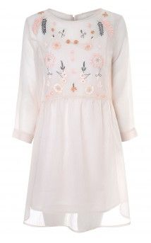 Blush Embroidery Detail Smock Dress