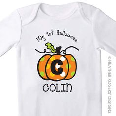 My 1st Halloween Shirt Personalized by HeatherRogersDesigns