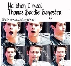 Honestly this will probably be my reaction when I meet anyone famous!