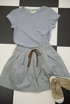 Shop Girls :: Anouk Dot Bartley Skirt - Olive Juice