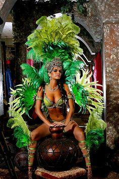Green Goddess #samba #dance #green