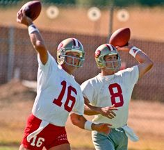 Joe Montana and Steve Young the best two QB's in the NFL were on the same team at the same time