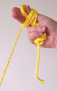 Loom Knitting: Making a Center Pull Yarn Ball