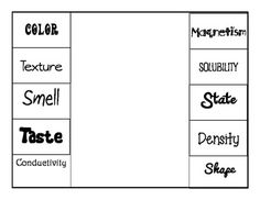 3-6 Free Resources: Properties of Matter Chart & Sorting