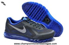 Nike Air Max 2014 Mens Shoes Deep Gray Ocean Blue For Wholesale