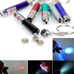 nice Mini 2 In1 Multi-function Red Laser Pointer Pen With White LED Light pets toy