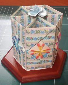 150.육각연필꽂이만들기ㅡ종이공예.종이접기.문양접기.origami.인형.퀼트.공예강좌.