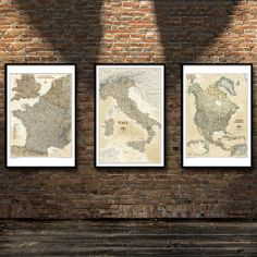 """""""Country Map Asia Africa World Topographic Map National Geography Poster Photographic Paper Office Home Decoration  ZS191"""" Office Wall Decor, Office Walls, Canvas Home, Canvas Art, Nordic Art, Country Maps, Type Posters, Canvas Wall Decor, Topographic Map"""