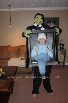 af10c52d5 Captured By Frankenstein Caged Illusion Homemade Costume Idea Sc 1 St  Pinterest. image number 29 of halloween illusion costumes ...