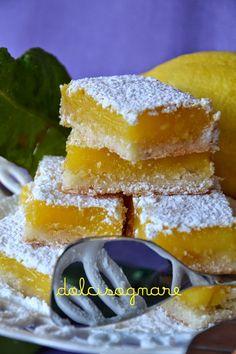 Barrette al limone, lemon bars, carrè au citron...