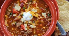 Seven can taco soup is such a quick and easy soup to throw together, with a well stocked pantry you can whip it up in no time and customize it to your own liking. Crockpot Recipes, Soup Recipes, Cooking Recipes, Chili Recipes, 7 Can Taco Soup Recipe, Yummy Recipes, Cajun Recipes, Healthy Recipes, One Pot Dinners