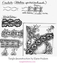 Zentangle pattern: E'rutats.