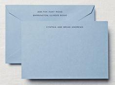 Dalton Blue Correspondence Note Cards