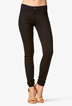 Ankle Length Denim Skinny Jeans | FOREVER 21 - 2019572717