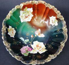 Vtg Z S & Co ZEH SCHERZER Bavaria Hand Painted Roses Gold Encrusted Bowl Moriage   Pottery & Glass, Pottery & China, Art Pottery   eBay!