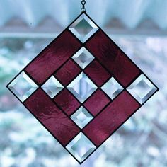 Stained Glass Purple Bevel Panel