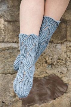 Socks knitted in Baby Merino Silk from Rowan