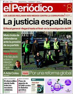 Los Titulares y Portadas de Noticias Destacadas Españolas del 8 de Febrero de 2013 del Diario El Periódico ¿Que le parecio esta Portada de este Diario Español?