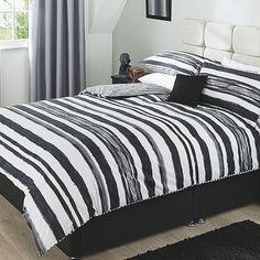 George Home Painted Stripe Duvet Set