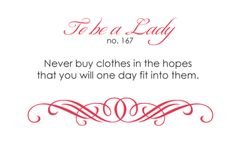 To Be A Lady: 167