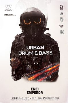 Drum & Bass Poster Template
