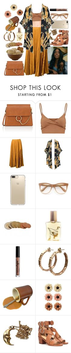 """N e u t r a l👌🏾"" by raven-so-cute ❤ liked on Polyvore featuring Chloé, Kaelen, Lenny, Speck, Wildfox, Flidais Parfumerie, NYX, mae and rag & bone"