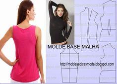 Moldes Moda por Medida: MOLDE BASE MALHAS