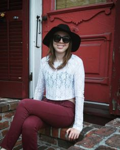 I wish I could be Southern. Take me back  #tbt #throwback #lastweek #takemeback #me #hat #sunglasses #smiling #door #house #oldhouse #building #porch #bricks #red #darkred #maroon #burgundy #lace #croptop #ootd #tbt #lategram #nola #neworleans #louisiana #tourist #thesouth #southern #frenchquarter #bourbonstreet by taracullen