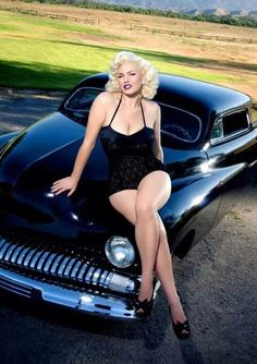 Much vintage nud car pinups can