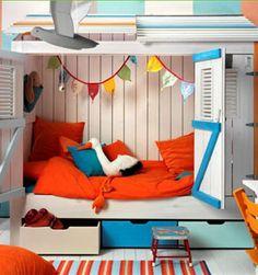 Quarto de criança colorido, com cama original | Eu Decoro