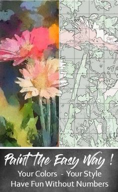 Garden Flowers: DIY Floral Painting in Your Acrylics Oils   Etsy