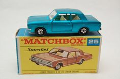 No.25 Ford Cortina GT Superfast w/Original Box by Matchbox Lesney England 60's toy Car Great Gift Idea Stocking Stuffer  for Dad by RememberWhenToys on Etsy