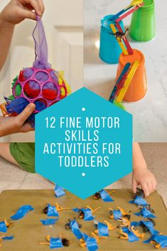 12 Fine Motor Skills Activities for Toddlers - Mamanista!