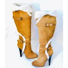 H BY HALSTON Sophia Suede Leather Knee High Boots